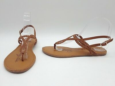 ef789615e6f9 American Rag Keira Women Shoes Brown Braided Flat Sandals Sz 6.5 M