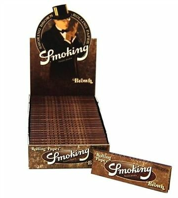 Smoking Rolling Paper Brown Unlbleached 1 1/4 Box of 25 Booklets