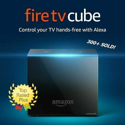 Fire TV Cube w/ Alexa, Remote and 4K Ultra HD Streaming Media Player NEW SEALED!