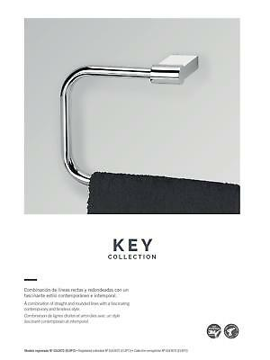 Escobillero pared cristal Key cromo