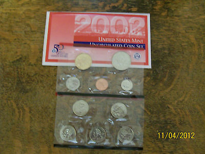 2002 Us Mint Set P & D,  20-Piece, W/box & Coa, As Received From Mint