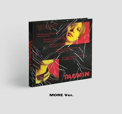 Shinee Taemin-[Want] 2nd Mini Album More Ver CD+Poster+Booklet+Card+Stand+Gift