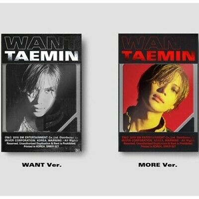 Shinee Taemin-[Want]2nd Mini Album Kihno Random Kit+Poster+13p PhotoCard+Gift