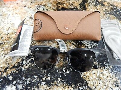 166dccf4edf NEW Ray-Ban Clubmaster Metal RB3716 Black with Blue Gradient Lenses NWT