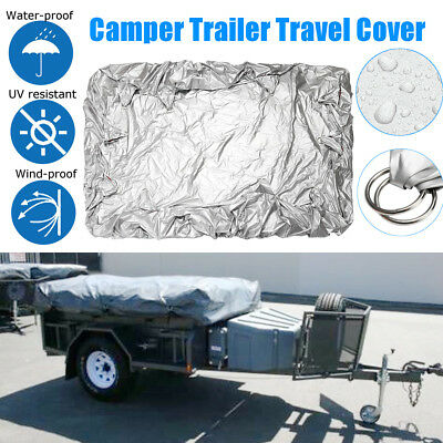 Camper Trailer Travel Cover Waterproof Storage Bag with Metal Connection Ring