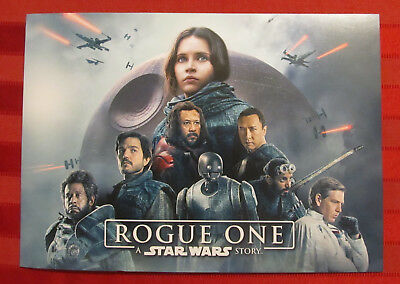 Disney Store 2017 STAR WARS ROGUE ONE LITHOGRAPH Set 4 Collectible Posters
