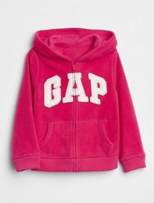 GAP OLD PINK MICRO FLEECE CRITTER ZIP HOODIE for Toddler Girls NWT 2T 4T n5 NNN