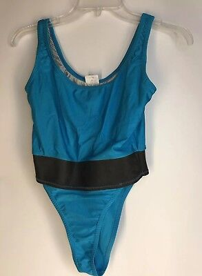 Vintage 1980s BodyPro Ujena One Piece Workout Leotard High Cut Leg Small-Med USA