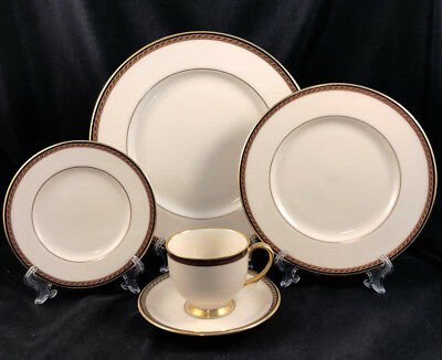 Lenox Monroe Presidential 5Pc Place Settings Dinner Salad Bread Plate Cup Saucer