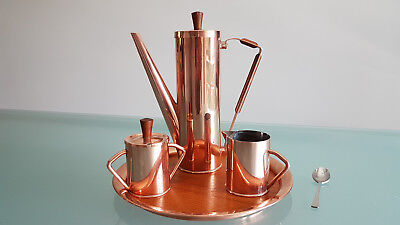 ART COPPER COFFEE SET BY MEWO SHEPPARTON VICTORIA AUSTRALIA. ( c1960 ).THE BEST.