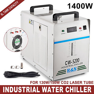 Industrial Water Chiller cool single 130W 150W CO2 Laser Tube CW-5200DG 110V