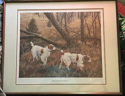 """Brittanies-A-Field"" Hunting Dogs 589/950 Ltd ed Art Signed-Jan Martin McGuire"