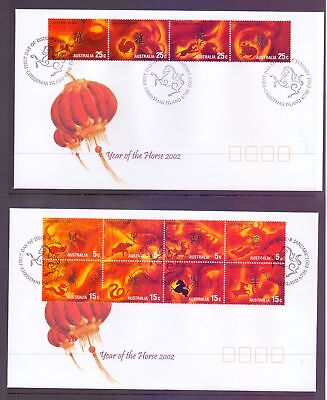 Christmas Island  2002  FDC, Year of the Horse Zodiac Sheet (2).