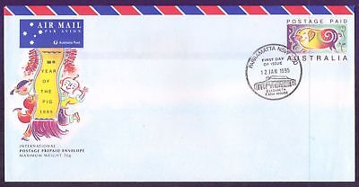 Christmas Island  1995  FDC, Year of the Pig.