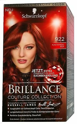 Schwarzkopf Haarfarbe Brillance 922 Kastanien Rot Couture Collection