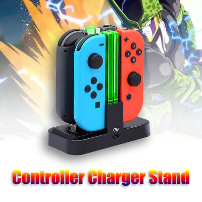 4 Port Game Controller Charger Charging Dock Station for Nintendo Switch Joy-Con