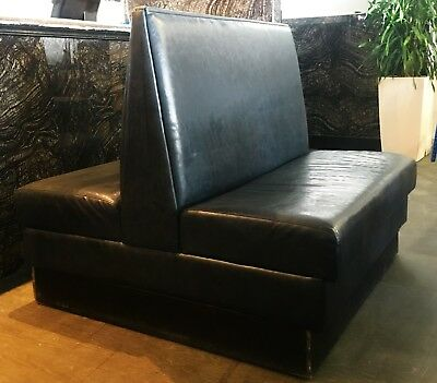 Black Leather Restaurant Bench Booth Back To Back Great Condition No Damages