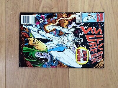 Silver Surfer Comic Issue 53 Infinity Gauntlet Crossover