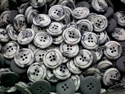 Large 20mm White Size 32L Quality 4 Hole Buttons Craft Knitting Arts Joblot AA43