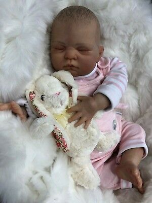 "Cherish Dolls Childrens Reborn Real Baby Girl Ally Realistic 20"" 4Lb 7Oz Uk"