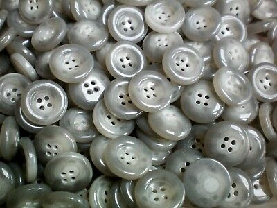 20mm 32L Ivory Off White Polished 4 Hole Buttons Button Craft Jacket J133