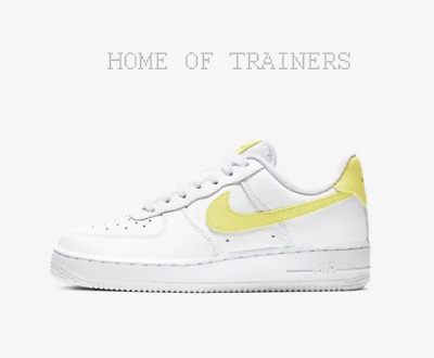 fd12a0026d3fd Nike Air Force 1 '07 White Yellow Pulse Girls Women's Trainers All Sizes