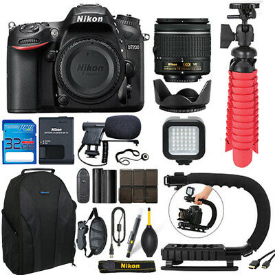 Nikon D7200 Digital SLR Camera Body 3 Lens Kit 18-55mm Lens