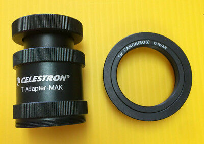 Celestron T-Adapter Camera Adapter & Canon T-Ring For C90 & C130 Mak Telescope