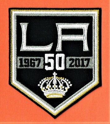 LOS ANGELES KINGS 2016/17 50th ANNIVERSARY EMBROIDERED NHL UNIFORM PATCH