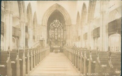 real photo; Chesterfield church; C H Nadin; 1913