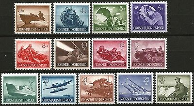 Germany Third Reich 1944 MNH - Armed Forces Heroes' Day - Mi: 873-885 SG 861/873