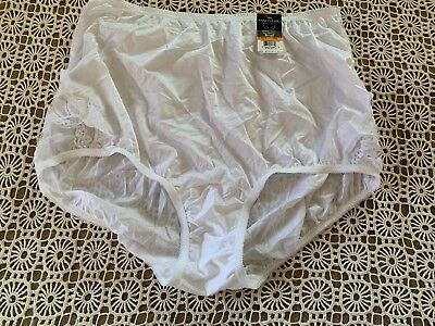 dcf6521bae Nwt Vanity Fair Nylon Perfectly Yours Lace Nouveau Brief Panties White 7   13001