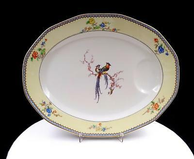 """Theodore Haviland Limoges Chambord Flowers And Birds 14"""" Serving Platter 1922"""