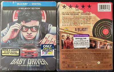 Baby Driver Steelbook Blu-Ray Limited Edition ✔☆Mint☆✔No Digital✔Free Shipping