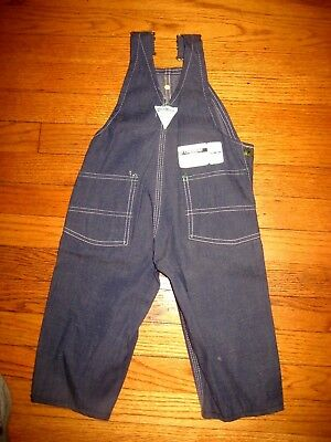 Vintage NOS OshKosh B'gosh Kids Denim Bib Overalls New With Tags Sz 2