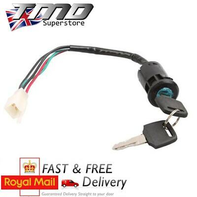 Motorcycle Key Barrel Ignition Switch 4 wire On/Off Universal Quad Motorbike