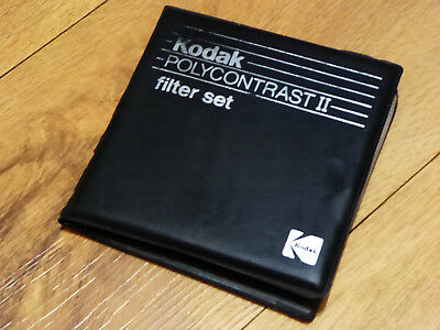 KODAK POLYCONTRAST II FILTER SET, from 0 to 5.