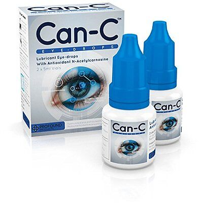 Can-C  Lubricant Eye Drops with N-Acetylcarnosine FREE Lens Micro Fiber Cloth !
