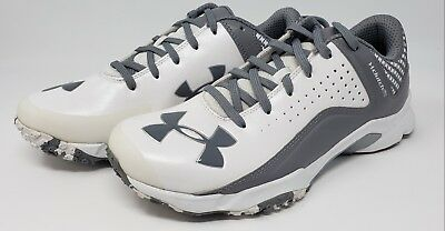 bf73f879b20 Under Armour Men s Yard Low Trainer Baseball Turf Shoes Sz 15 1250049-102  White
