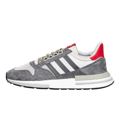 Adidas - Zx 500 RM Boost Gris Four  Footwear Blanco  Scarlet Zapatillas  B42204 933cd0718