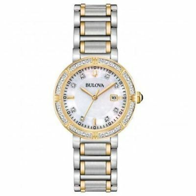 Bulova 98R260 30mm 24 Diamond Accented Two-Tone Women's Watch NWOT