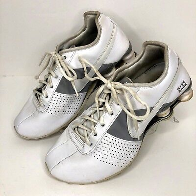 4bf2881fb80c Women s Nike Shox 2009 White Silver 317549-112 Leather Running Shoes Size 8