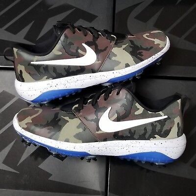 outlet store 6e5ff 95ab0 Nike Roshe G Tour NRG Neutral Olive Royal Hyper Blue Country Camo Golf  Cleats
