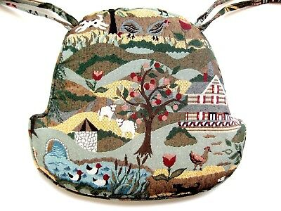 Vintage Country Style Scene Bell Shaped Chair Cushion (2 available)