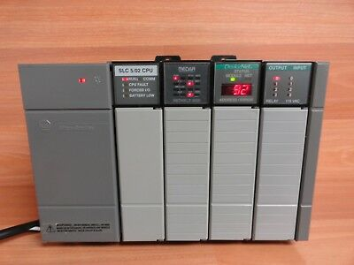 Allen Bradley Slc 500 1746-A4 4 Slot Rack Full 1746-P1 Power Supply 5/02 Cpu I/o