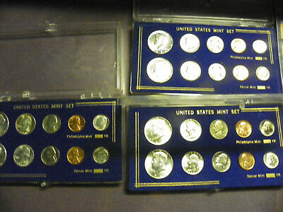 US Silver Coins; BU 1964 P and 1964 D Mint Sets