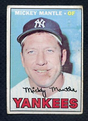 1967 Topps #150 Mickey Mantle Yankees Vg 355851 (Kycards)