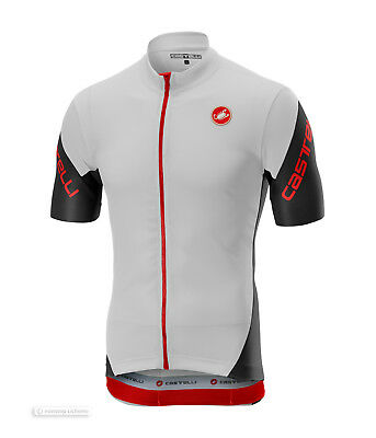 ba107eef1 NEW 2019 Castelli ENTRATA 3 Short Sleeve Full Zip Cycling Jersey   WHITE