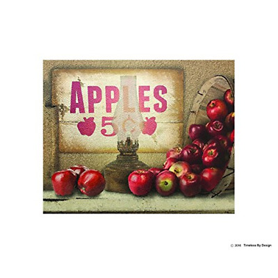 """""""Apples Mantel"""" Glass Cutting Board by Timeless by Design Non Slip Durable Non X"""