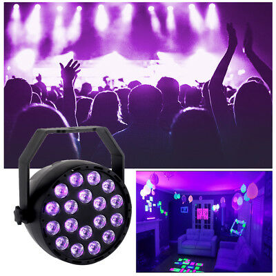U`King 18LED UV Par Stage Lighting DJ DMX + Remote Control Disco Mixing Party